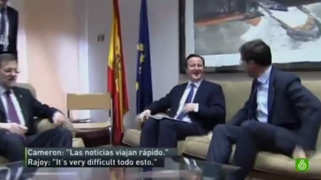 Spanish president, Mariano Rajoy, quite infamously doesn't speak much English